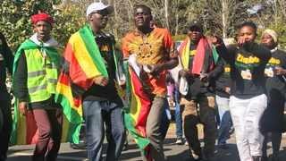 A group of Zimbabweans based in South Africa marched to their embassy in Pretoria on Tuesday to demand the right to vote in the next election. Picture: Jonisayi Maromo/ANA