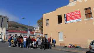 A group of approximately 40 people converged outside the SABC property, in May where they occupied the Rockland Villas flats behind the SABC building. Rockland Villas has been standing vacant for over 20 years. Photographer: Armand Hough/African News Agency(ANA)