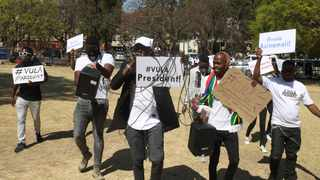 A group of artists and entertainers protest at the Union Buildings, calling on government to re-open the entertainment industry. Picture: Jacques Naude/African News Agency (ANA)