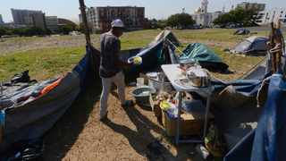 A group of protesters have pitched tents opposite the Cape Peninsula University of Technology (CPUT) in District Six, demanding that the government respond to their housing needs. Picture: Armand Hough/African News Agency(ANA)