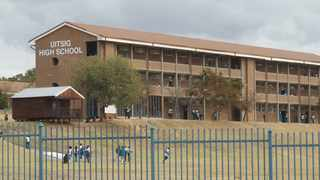A learner wearing EFF regalia was removed from Uitsig High School by security on Friday, promoting the party to protest. Picture: Jacques Naude/African News Agency (ANA)