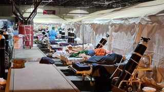 A makeshift ward at Steve Biko Hospital to deal with the influx of Covid-19 patients. Picture: Supplied