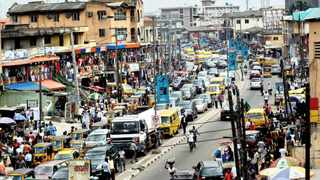 A partial view of the commercial center in downtown Ikeja, Lagos, Nigeria. Picture: EPA/AHMED JALLANZO