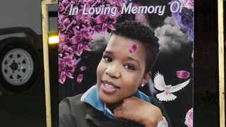 A photograph of Tshepo Rakoma at her funeral service in Seshego, Limpopo. Picture: Supplied