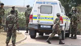 A police van going into former president Jacob Zuma's house was stopped and turned away by MKMVA forces manning the gate at the Nkandla home Picture: Doctor Ngcobo/African News Agency(ANA)
