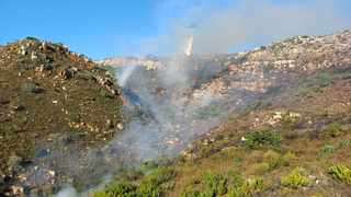 A quick response made light work of a mountain fire in Simon's Town, that threatened to spread out of control. Picture: City of Cape Town/Supplied