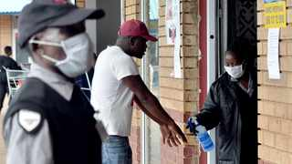 A shopper's hands are sanitised before enters an Atteridgeville shopping centre. For Africa to survive Covid-19, much will depend on its state of preparedness along with a profound behavioural change, says Dr Iqbal Survé. Picture: Oupa Mokoena/African News Agency (ANA)