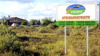 A sign at one of the entrances to Orania in the Northern Cape. Picture: Boxer Ngwenya