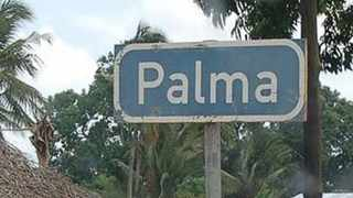 A signpost for the town of Palma in the restive Cabo Delgado province in Mozambique. Picture: Club of Mozambique/Twitter