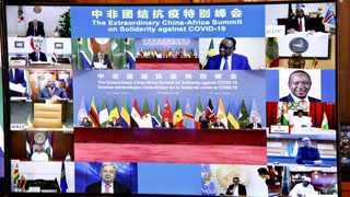 A virtual Extraordinary China-Africa Solidarity Summit against Covid-19 was co-hosted by the Forum for China-Africa Cooperation (FOCAC) and the AU. Picture: Elmond Jiyane/African News Agency (ANA)