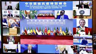 A virtual Extraordinary China-Africa Solidarity Summit against Covid-19 was co-hosted by the Forum for China-Africa Cooperation (FOCAC) and the AU. Picture: Elmond Jiyane/GCIS