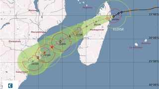 A weather map from Meteo France shows the path tropical storm Eloise will take.