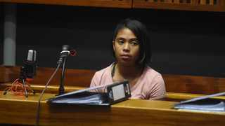 A witness in the Eldorado Park teenager Nathaniel Julies murder trial, Tahirah Kaldine. Picture: Itumeleng English/African News Agency (ANA)