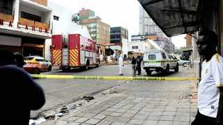 AFTERMATH: Three children aged three, five and 10 died when a wall in an abandoned building collapsed on top of them while they were playing in central Joburg yesterday afternoon. Pictures: Nokuthula Mbatha/African News Agency (ANA)