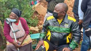 ANC President Cyril Ramaphosa in the Nelson Mandela Bay Municipality campaigning for local government elections. Photo: Bheki Radebe