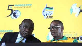 ANC president Cyril Ramaphosa and secretary-general Ace Magashule Picture: Itumeleng English/African News Agency(ANA)