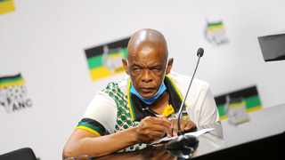 ANC secretary general Ace Magashule addressing the media on the NEC outcomes Picture:Nokuthula Mbatha/African News Agency(ANA)