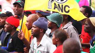 ANC workers in Western Cape to partake in picket over salaries. Picture: Werner Beukes/SAPA