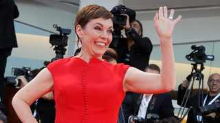 Academy Award-winning actress Olivia Colman poses for photographers at the 75th Venice Film Festival in Venice, Italy. Picture: AP