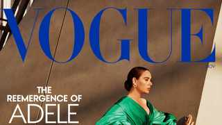 Adele at the Academy Museum Of Motion Pictures on the cover of American Vogue. Picture: Alasdair McLellan/Twitter.