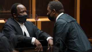 Adv. Sikhakhane and Adv. Mpofu during the Zuma case at Pietermaritzburg High court on 21 September 2021. The Pietermaritzburg High Court is hearing former president Jacob Zuma's application to have the National Prosecuting Authority's advocate Billy Downer SC recuse himself. Picture: Khaya Ngwenya/African News Agency(ANA)