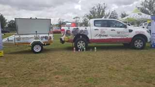 Afrivet came to the rescue by supplying Veterinary Services with a new double cab bakkie to alleviate this constraint. Pictures: Kevin le Roux the Rabies Project Manager from KZN DARD