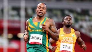 Akani Simbine is South Africa's big medal hope in the men' 100m. Picture: Lucy Nicholson/Reuters
