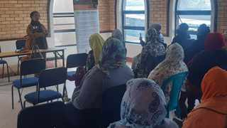 Al Jama-ah Women's League president Veli Luthuli launched the public participation process for the bill at the Gugulethu Mosque, where she addressed members of the Western Cape Women's Shura Council at the weekend. Picture: Supplied