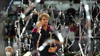 Alexander Zverev added 2021 title to his 2018 Madrid Open triumph after beating Matteo Berrettini in the final. Picture: Antoine Couvercelle/Panoramic via Reuters