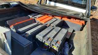 An Eastern Cape man was arrested after he was found to be in possession of stolen Telkom batteries worth R900 000. Photo: Hawks