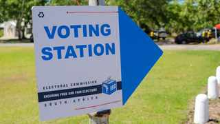 An IEC placard outside a voting station Picture Henk Kruger/African News Agency (ANA).