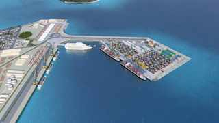 An artist's impression of Walvis Bay's port of the future. The port's expansion is part of Namibia's plan to boost its economy.Photo: Supplied