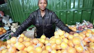 An informal trader in Warwick Avenue in Durban. File Picture