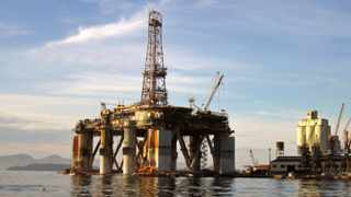 An oil rig is shown in this file photo.