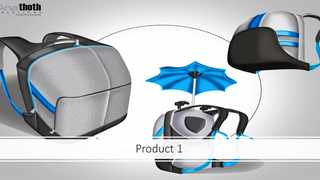 Anathoth Solutions wheelchair integrated umbrella holder. Picture: Screenshot