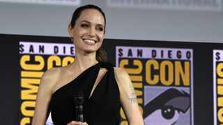 Angelina Jolie attends the Marvel Studios panel on day three of Comic-Con International on Saturday, July 20, 2019, in San Diego. Picture: AP