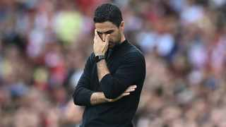 Arsenal's Spanish manager Mikel Arteta gestures on the sidelines during a English Premier League match. Photo: AFP