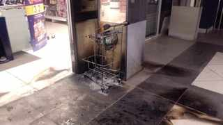 Arson attempt at a Clicks store in Witbank. Picture: Twitter