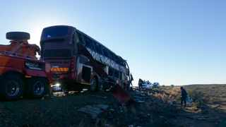 At least 10 people have died, and others were 30 injured in bus crash near Beaufort West.  Picture: Rieks Towing