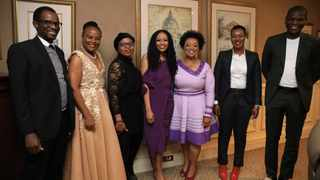 At the launch were Mutual Bank founder and businesswoman, Nthabeleng Likotsi with Deputy Finance Minister David Masondo, Small Business Development Minister Khumbudzo Ntshavheni, Public Protector Busisiwe Mkhwebane, Communications Minister Stella Ndabeni-Abrahams, Justice Minister Ronald Lamola and businesswoman Nontsikelelo Sisulu at the launch of the bank in Sandton on Tuesday. Picture: Supplied