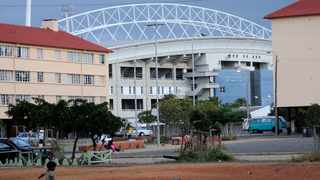 Athlone Stadium is being transformed into a vaccination centre that will include a drive-through facility. Photo: Matthew Jordaan