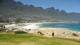 Atlantic Beach focusing mostly on Maiden's Cove and Clifton 4th Beach. Also in the picture is Camps Bay taken from Maiden's Cove. Picture: Tracey Adams/African News Agency