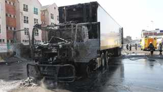 Attacks on South African economy continues as another truck is looted and burnt in Dalton street, Durban on Sunday. File photo: Doctor Ngcobo/African News Agency(ANA)