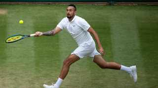 Australia's Nick Kyrgios in action at Wimbledon. He has decided not to play at the Olympics. Photo: Jonathan Nackstrand/AFP