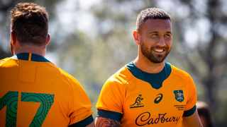 Australia's Quade Cooper has reatined the no 10 jersey for their second test against the Springboks on Saturday. Photo: Patrick Hamilton/AFP