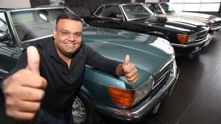 Avish Maharaj, chairman of the Mercedes-Benz Club of South Africa, has a personal collection of eight 107 models. Picture: Zanele Zulu/African News Agency/ANA