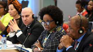 BRICS Business Council meeting and Business Forum in Brazil. Featured are the four SA chapter BRICS business council members. From left to right: Businesswoman Brigette Radebe, Stavros Nicolaou of Aspen Pharmacare Holdings, Busi Mabuza, chair of the IDC, and Ayanda Ntsaluba of Discovery Holdings.