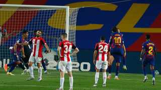 Barcelona midfielder Ivan Rakitic scored his first goal of the season to give his side a 1-0 win at home to Athletic Bilbao on Thursday, averting a second successive draw which would have further dented the champions' La Liga title defence. Photo: Joan Monfort/AP Photo