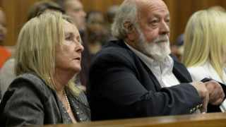 Barry and June, parents of Reeva Steenkamp, attend the murder trial of paralympian Oscar Pistorius in Pretoria, Friday, 8 August 2014. Picture: Herman Verwey/Media24/Pool