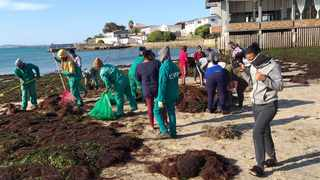 Beach clean up and protest at Saldanha Beach for World Oceans Day.